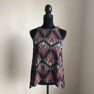 Pink rose sleeveless blouse (S)